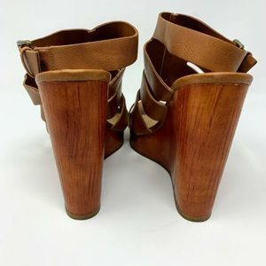 Lucky Brand Shoes - Lucky Brand Ravinna Wedges Brown Open Toe Heels 9